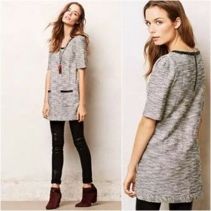 Anthropologie Postmark Staccato Tweed Tunic Dress
